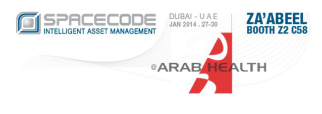 spacecode at arab health zaabeel booth